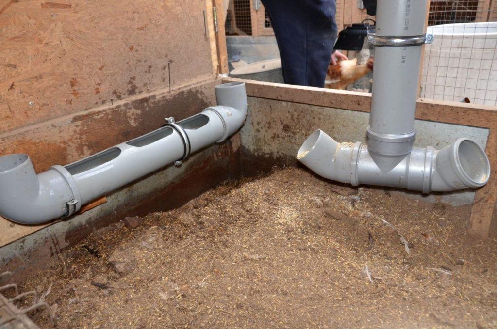 Самодельная поилка из канализационной трубы