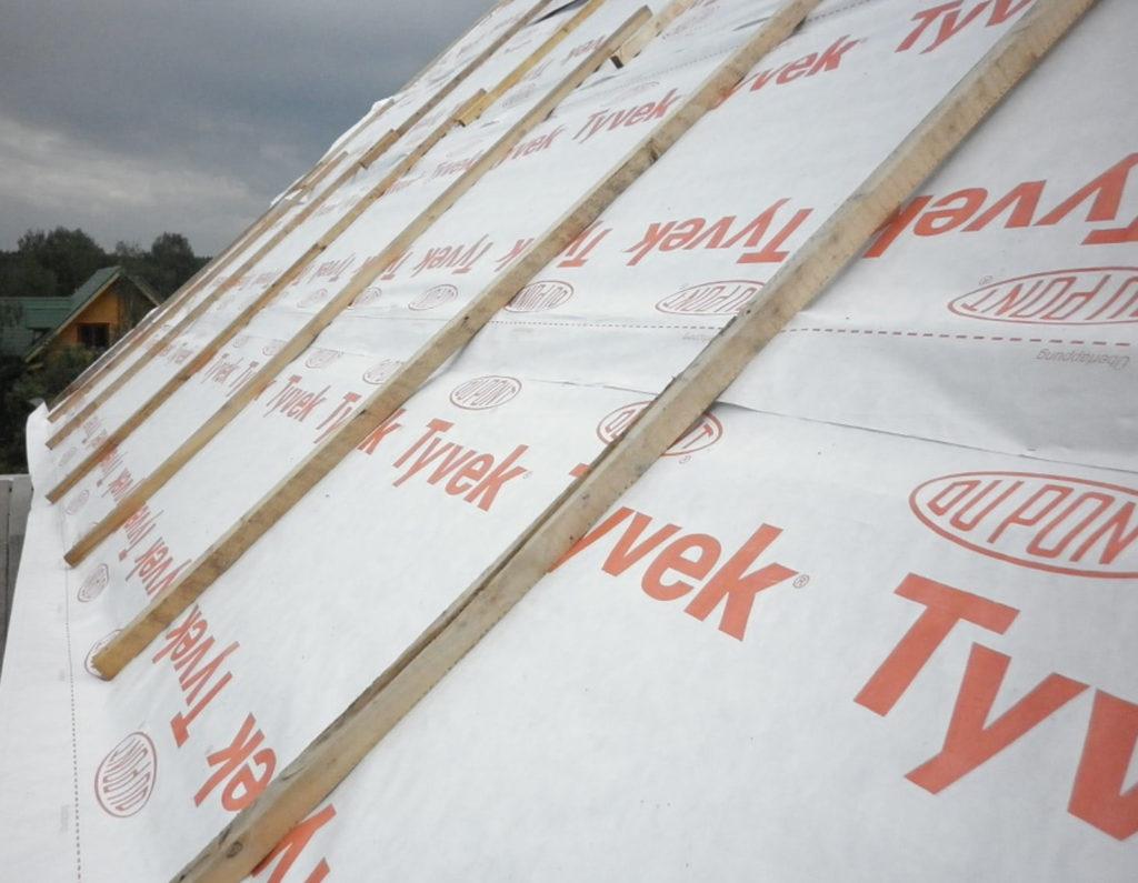 Утепление крыши гидроизоляционной пленкой