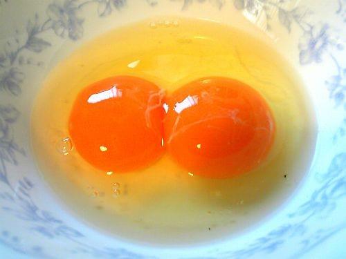 Почему у кур бывают двухжелтковые яйца